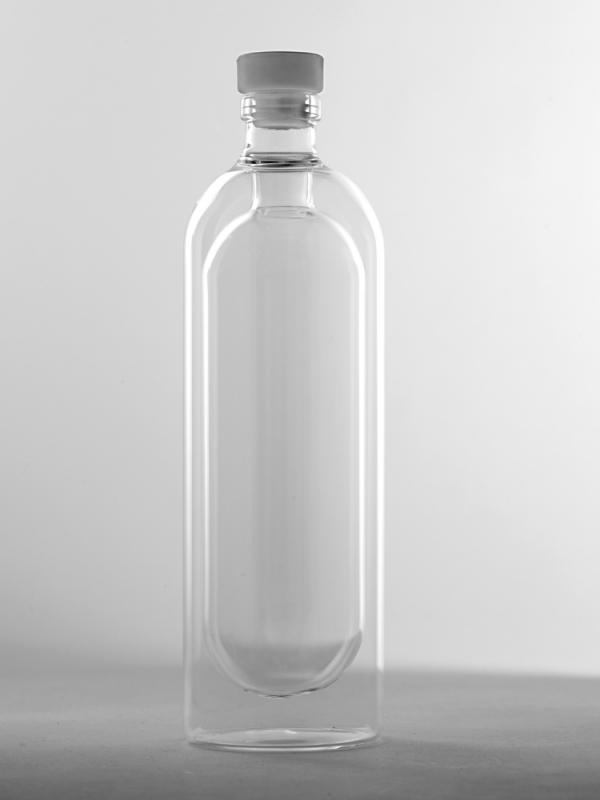 Double Wall Bottle With Stopper D8 H27