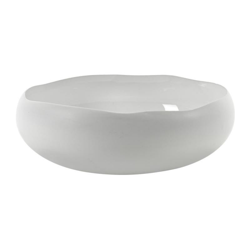 Plate Irregular Dia45Cm H10.3 White