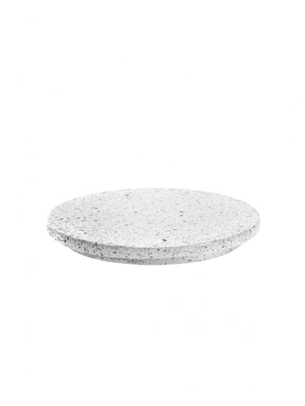 "Presentation Platter ""White Terrazzo"" Round D18"
