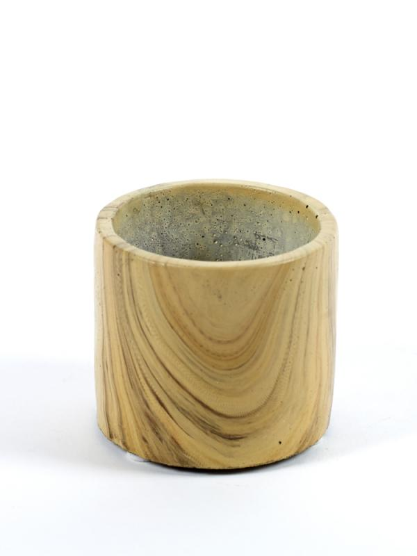 Cement Pot Woodlook Mini D9 H8
