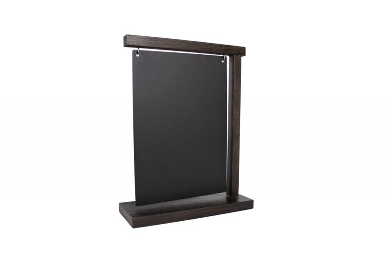 Information Display A4 Wood + Steelplate