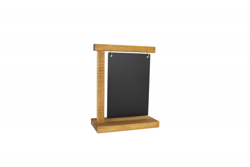 Information Display A5 Wood + Steelplate