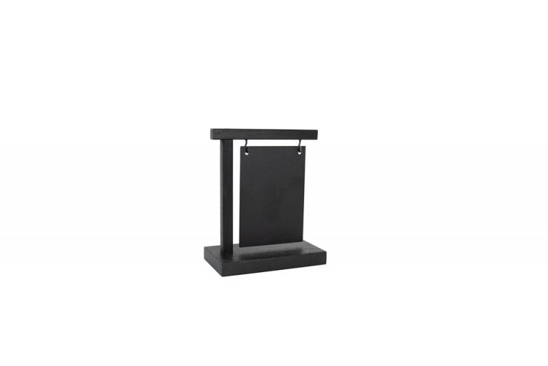 Information Display A6 Wood + Steelplate