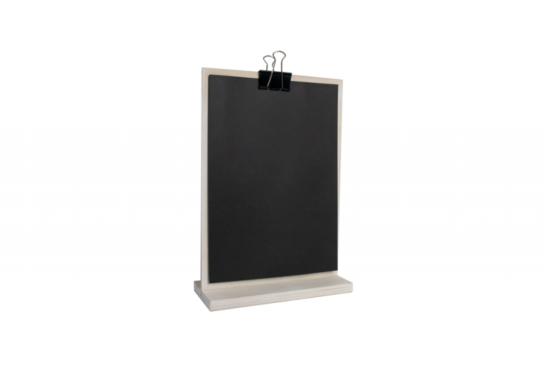 Information Display A4 Wood + black paper