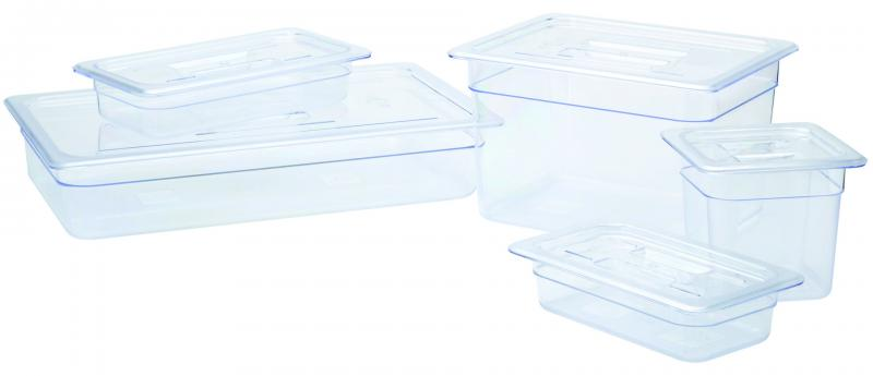 Polycarbonate 1/1GN Pan - 6.5cm Deep Clear6