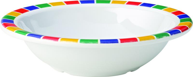 "Kingline Caribbean Block Rimmed Fruit Bowl 6"" (15cm) 9.75oz (28cl)48"