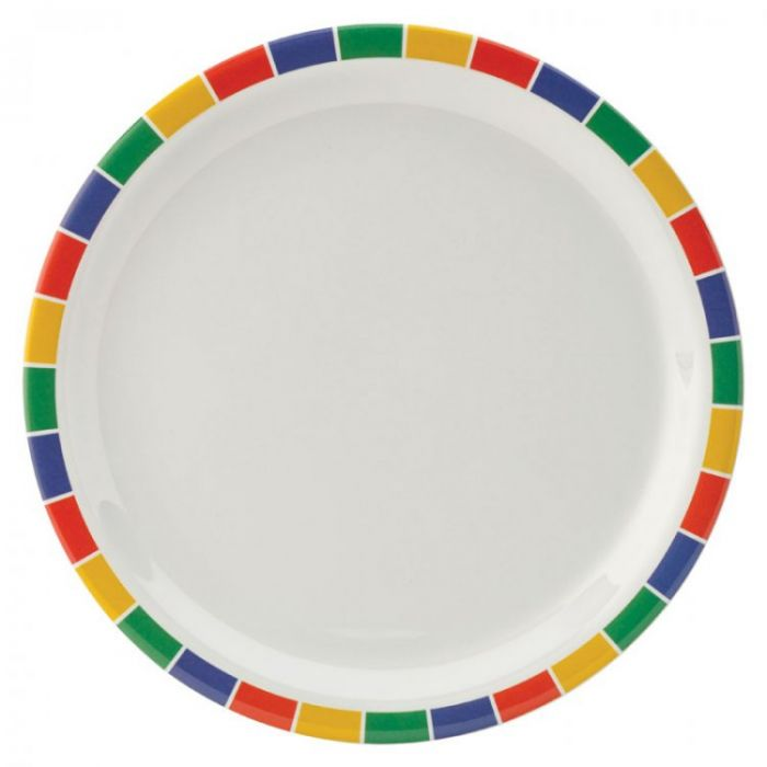"Kingline Caribbean Block Plate 9"" (23cm)48"