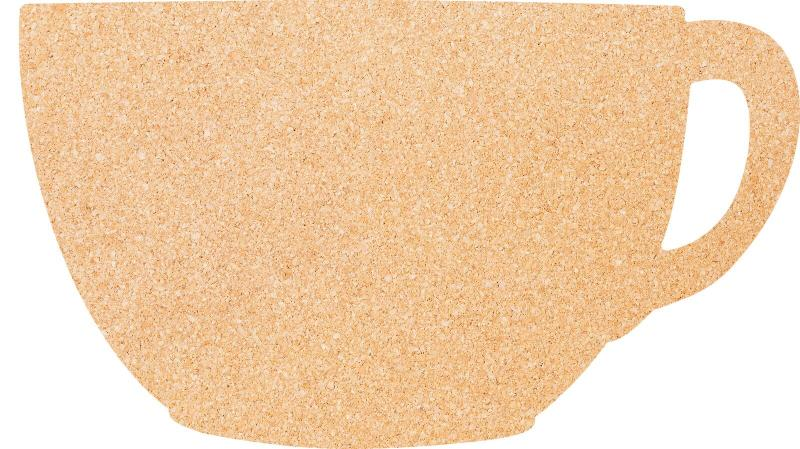 Cup cork board, incl. Pins+double sided tape mo...