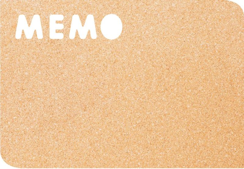 Memo cork board, incl. Pins+double sided tape m...