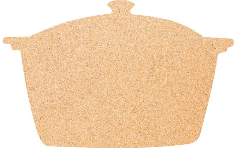 Securit® Silhouette pot cork board - including pins and double sided tape mounting strips