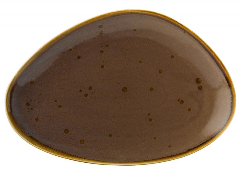 "Earth Mocha Oblong Plate 14"" (35.5cm)-6"