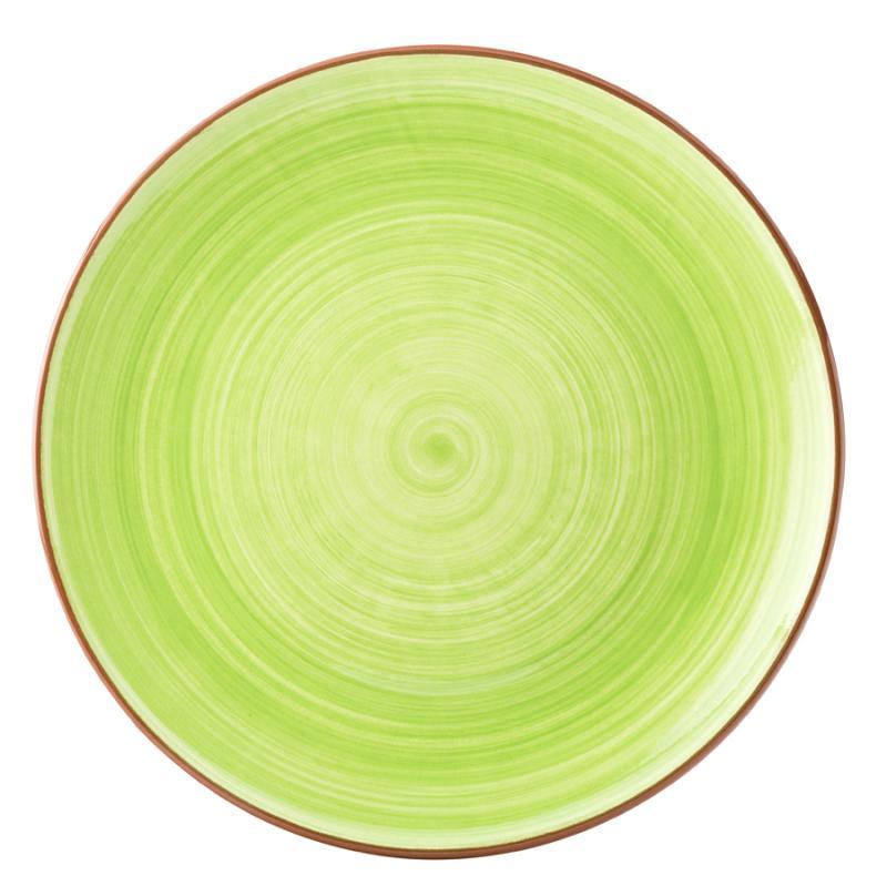"""Salsa Green Plate 11"""" (28cm)12"""