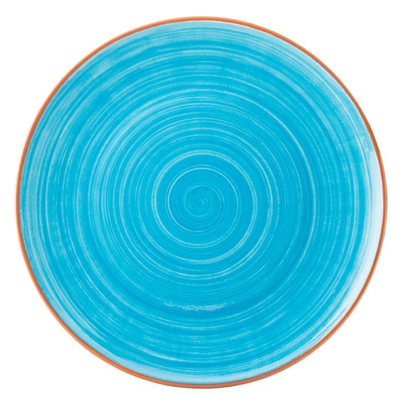 "Salsa Sky Blue Plate 11"" (28cm)12"