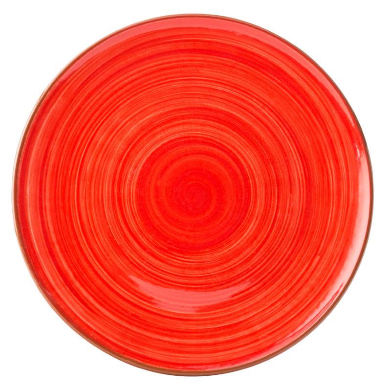 "Salsa Red Plate 11"" (28cm)12"