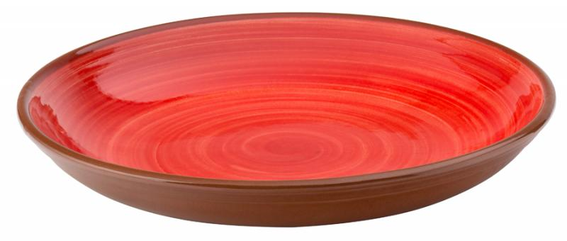 """Salsa Red Coupe Bowl 9.5"""" (24cm)12"""