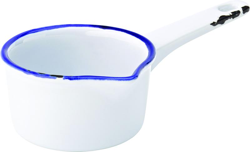 "Avebury Blue Milk Pan 3.75"" (9.5cm) 6.75oz (19cl)"
