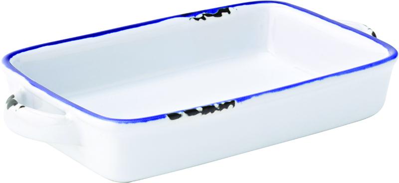 "Avebury Blue Small Rectangular Dish 6.75"" (17.5cm)"