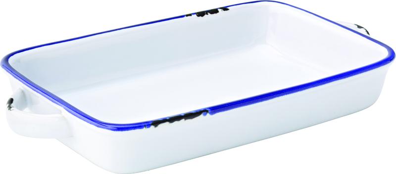 """Avebury Blue Large Rectangular Dish 8.5"""" (22cm)"""