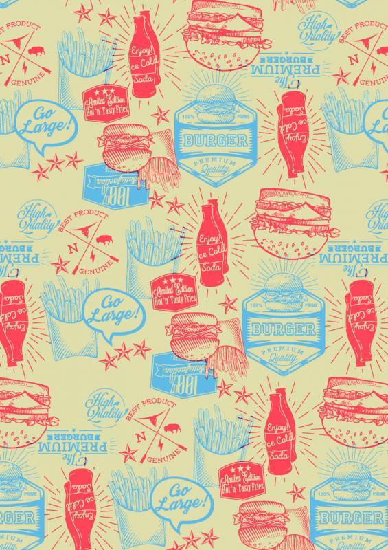 "Burger Presentation Paper 10 x 17"" (25.5 x 43cm)"