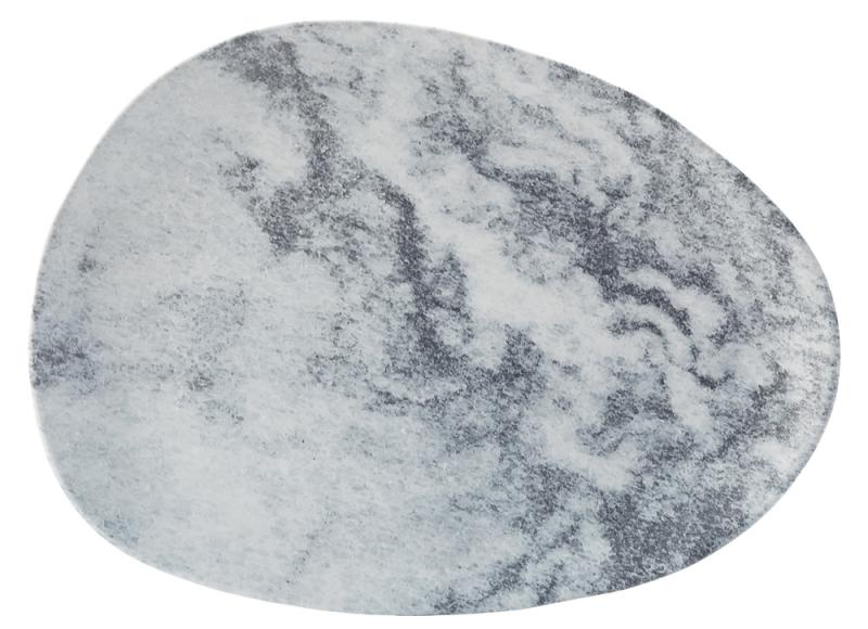 "Pebble Platter 16 x 11.75"" (41 x 30cm) - Grey12"