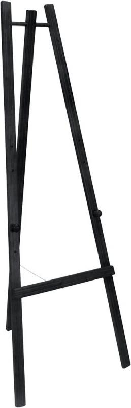 Easel stand w lacquered black finish 165cm. For...