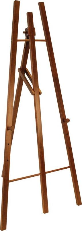 Easel stand w lacquered dark brown finish 165cm...