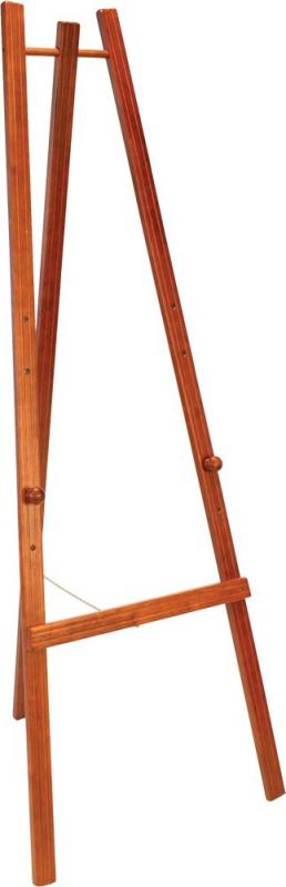 Easel stand w lacquered mahogany finish 165cm. ...
