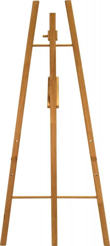 Easel stand w lacquered teak finish 165cm. For ...