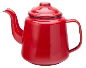 Eagle Enamel Red Teapot 1 Litre