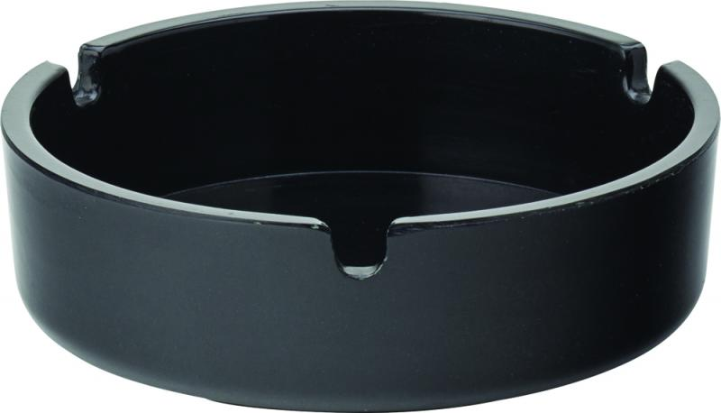 "Black Melamine Ashtray 4"" (10cm)-10"