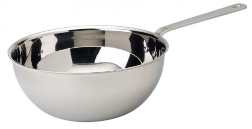 "Stainless Steel Wok 5.5"" (14.25cm) - 20oz (57cl) - 6"