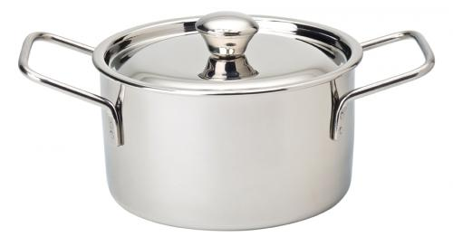 "Stainless Steel Handled Casserole 4"" (10cm) - 16.5oz (47cl) - 6"