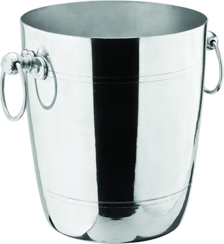 """Aluminium Wine Bucket 7.5"""" (20cm) H: 8.5"""" (22cm)6"""