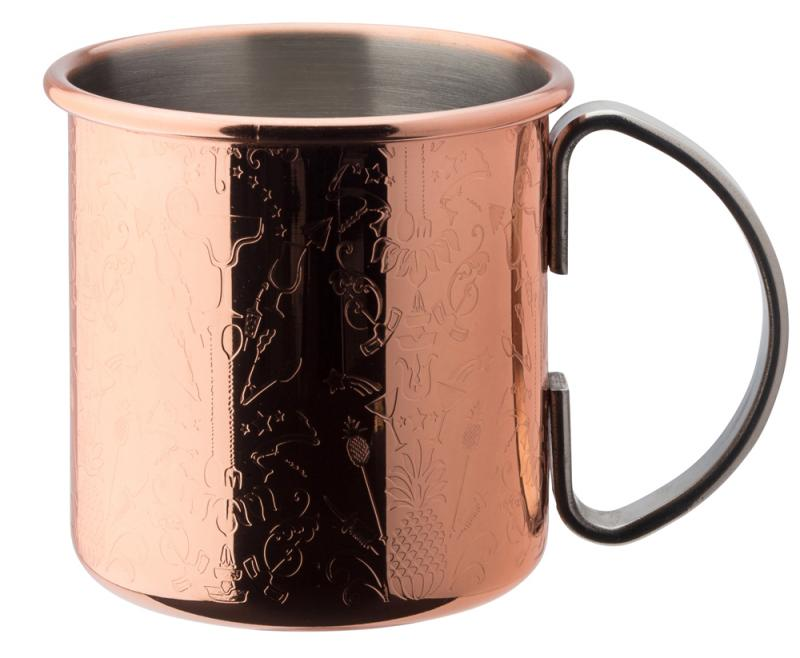 Chased Copper Mug 17oz (48cl)