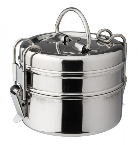 "2 Tier Tiffin Box 4.25"" (11cm) H: 5.75"" (14.5cm)-6"