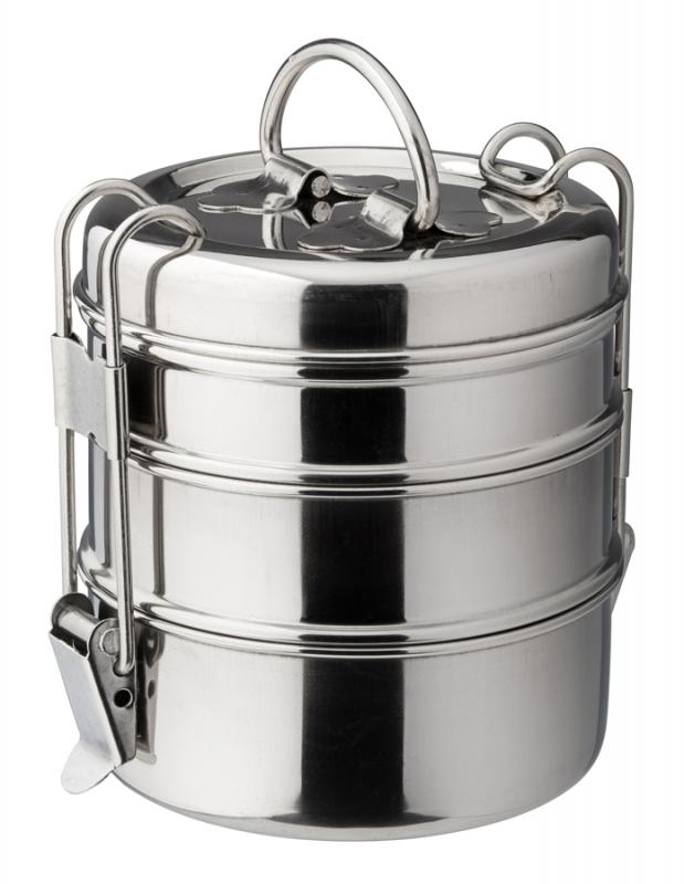 "3 Tier Tiffin Box 4.25"" (11cm) H: 7.5"" (19cm) - 6"