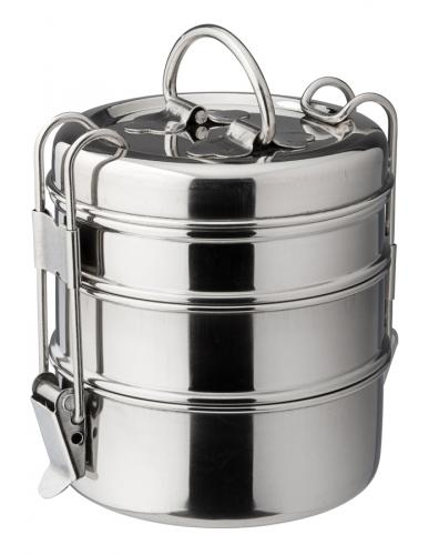 "3 Tier Tiffin Box 4.25"" (11cm) H: 7.5"" (19cm)-6"