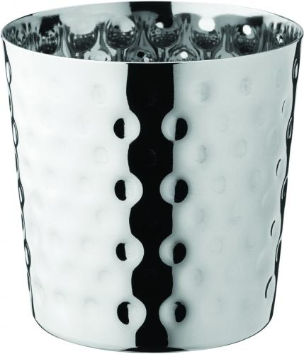 "Stainless Steel Hammered Cup 3.5"" (9cm) 13.75oz (39cl) - 12"