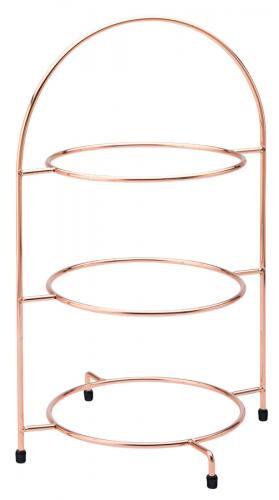 "Copper 3 Tier Plate Stand 17"" (43cm) - to hold 3 x 25cm Plates"