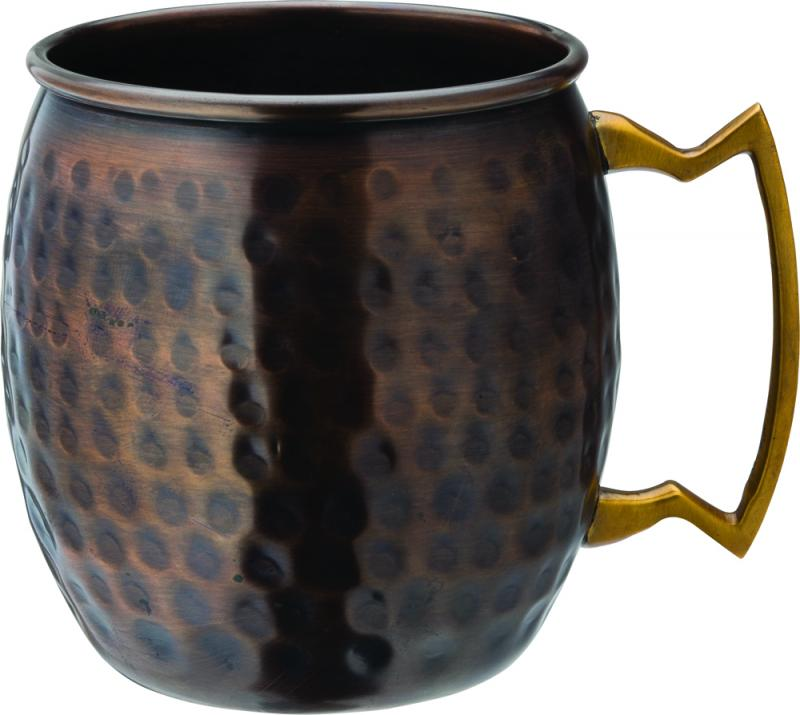 Aged Copper Hammered Round Mug 19oz (54cl)
