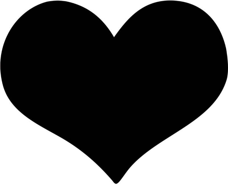 Securit® Silhouette heart chalkboard - including chalkmarker and self adhesive mounting strips