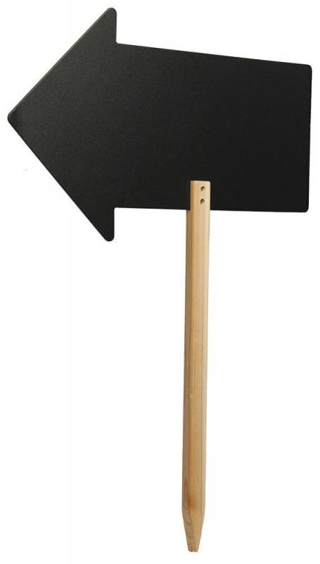 Silhouette arrow chalkboard sign,Incl. wooden s...