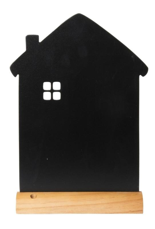 Securit® Silhouette house chalkboard, including chalkmarker - Wooden base