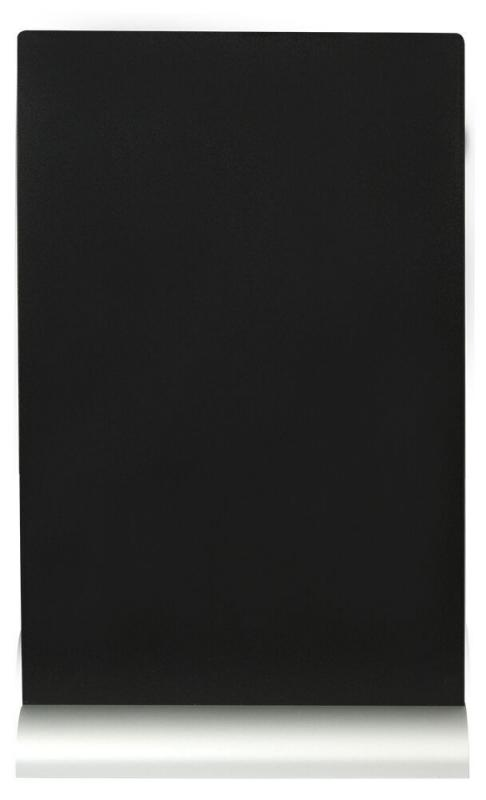 Securit® Silhouette A4 table chalkboard, including chalkmarker - Aluminium base