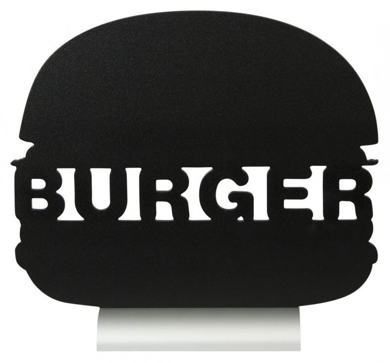 Silhouette burger table chalkboard, incl. chalk...
