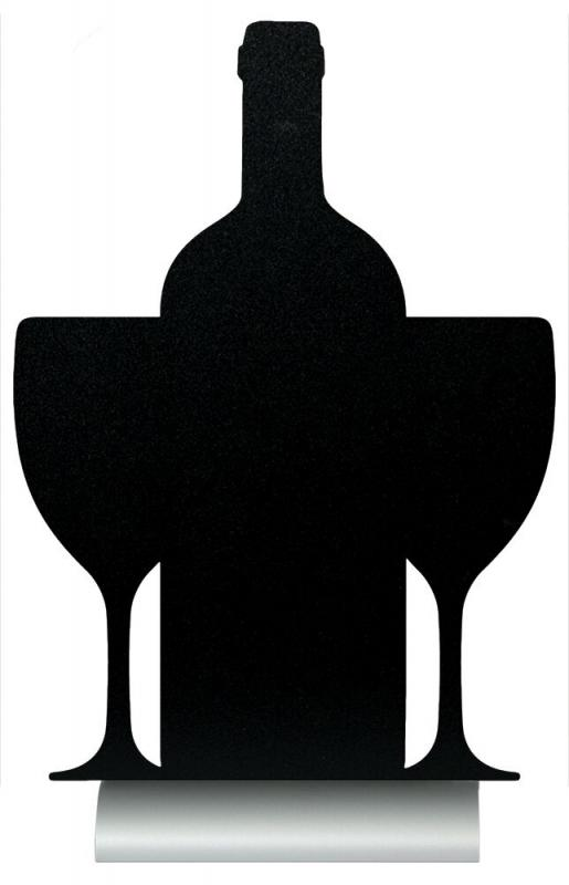 Silhouette wine table chalkboard, incl. chalkma...