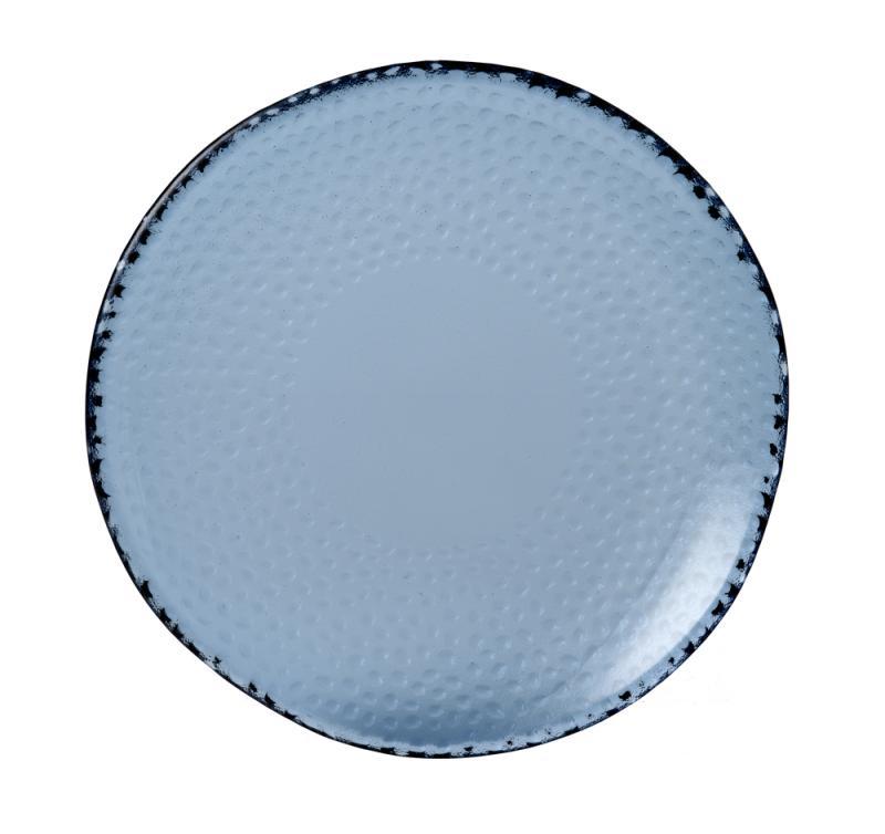 """Isla Organic Glass Trace Plate 8 7/8"""" Box 6"""