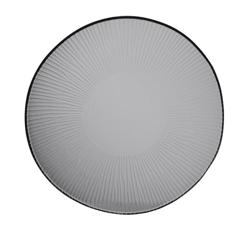 Bamboo Organic Glass Round Plate 29.5Cm Box 6