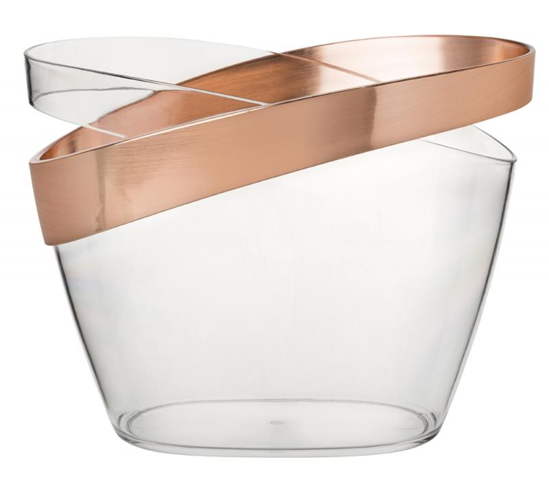 """Copper Banded Champagne Bucket 12"""" (30.5cm)2"""