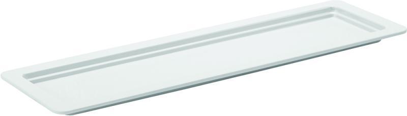 """Melamine White Platters GN 2/4 - 0.5"""" (1.5cm) Deep"""